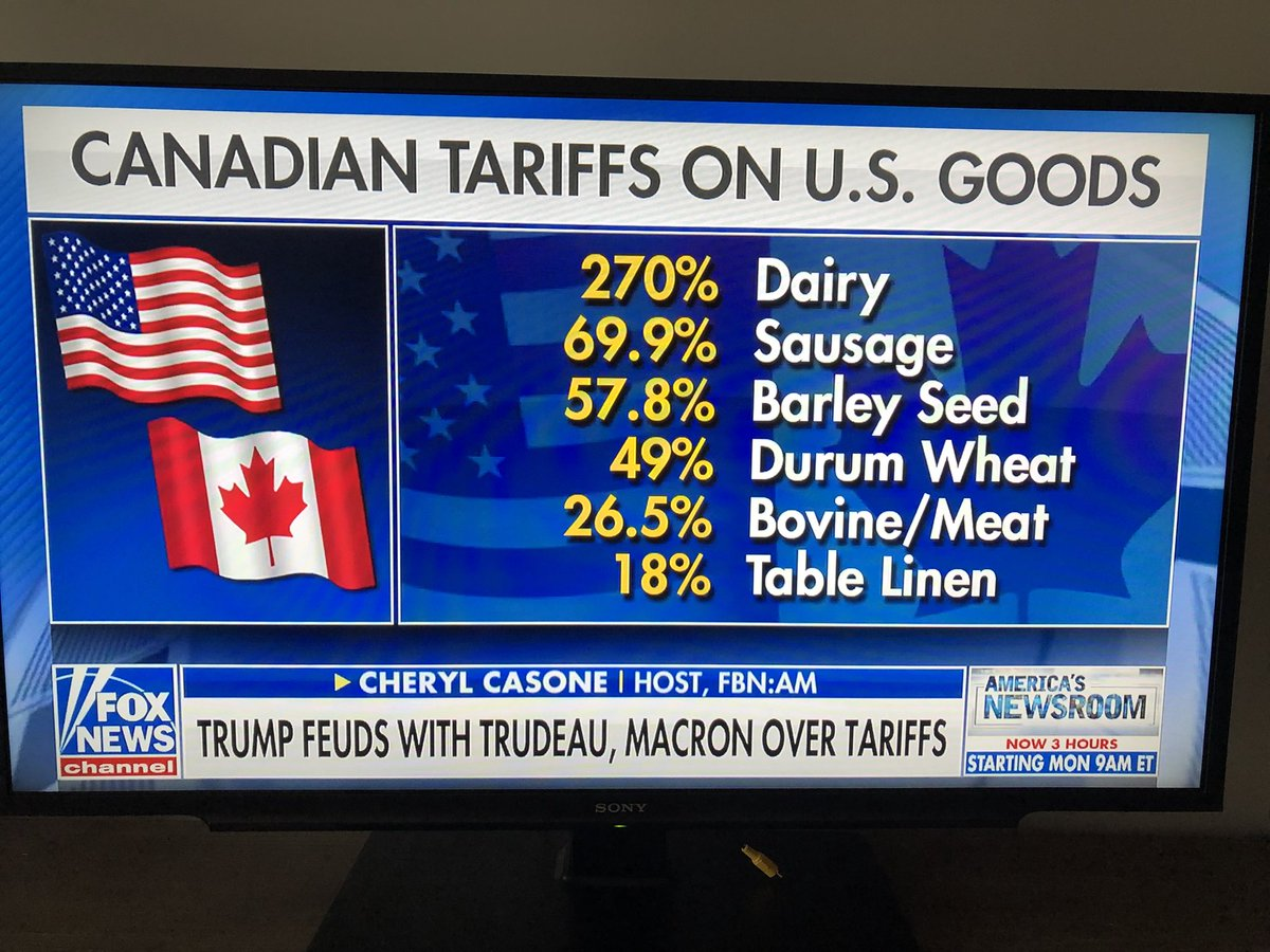 """""""He's going to launch a trade war!""""  No. @realDonaldTrump is going to END the trade war.   #MAGA #AmericaFirst https://t.co/bjx3lJQyF3"""