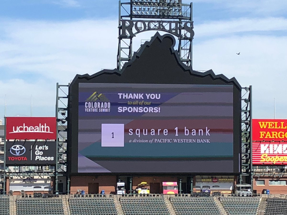 square 1 bank on twitter incredible day at coors field yesterday looking forward to continuing the fun today coventuresummit coloradoventuresummit18