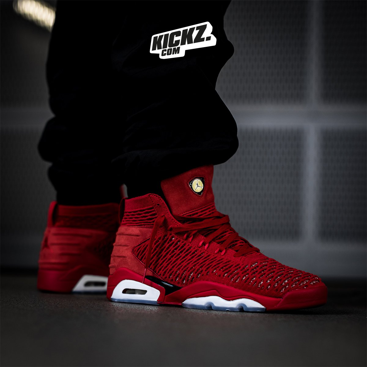 101961f9fc4 Flyknit upper plus Air Jordan 6 sole plus Ferrari inspiration. The Jordan  Flyknit Elevation 23 is available now at http://KICKZ.com and in selected  stores! ...