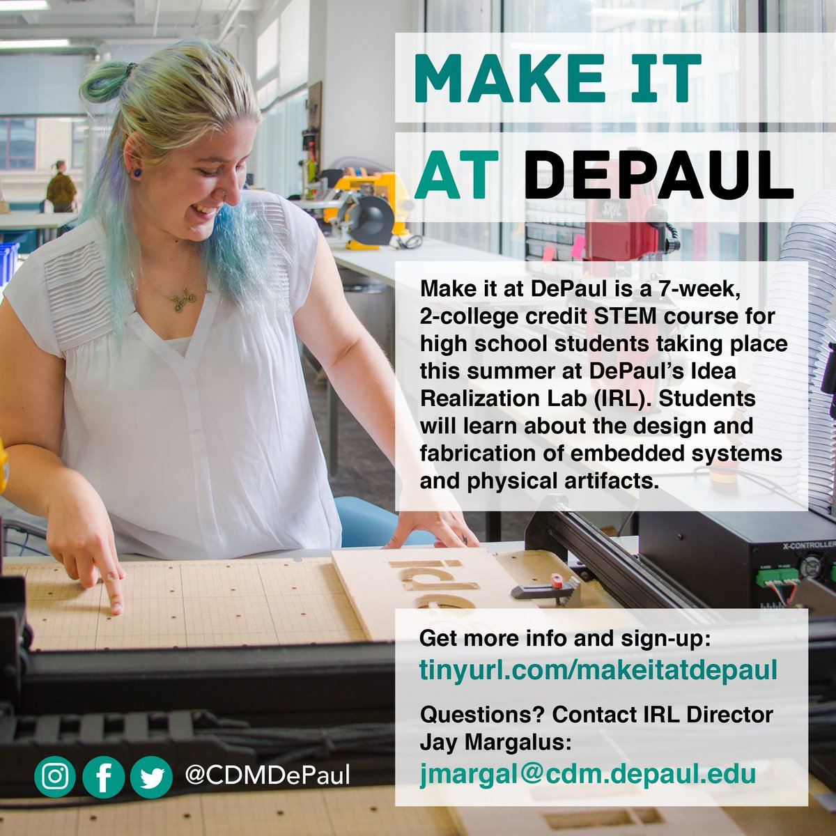 depaul college of computing and digital media on twitter high