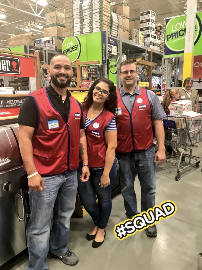 Great #RedVestReadyMoment for our new #Service #Manager Manny! @Mr_RKO316 Welcome to our #Squad1862, we're lucky to have you! 🍀 🎉 🤗 #celebration #lowes #loweslife #LoveWhatYouDo #LoveWhereYouWork @JStoreys