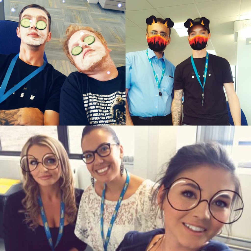 ✨#NationalBestFriendDay at @HSSHire✨ What other way to #celebrate our #workbesties than with a few #cheekyselfies 🙌👫❤️👫🙌 #bff #OneTeam #SquadGoals #selfie #snapchatfilter #HSSers
