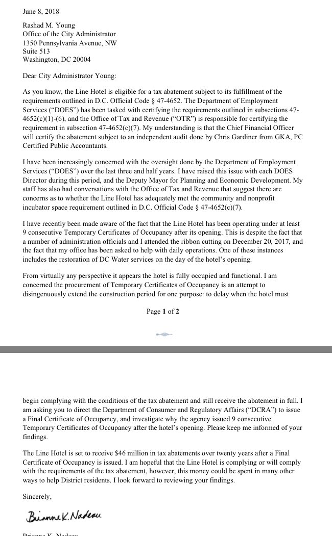 Martin Austermuhle On Twitter In A Letter To City Administrator