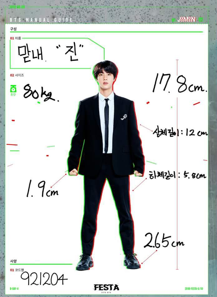 Kim O On Twitter Jin Profile Written By Jimin Name Madnae When The Oldest Member Pretends To Be The Youngest Jin Size 80kg Height 178 Cm Upper Body Length 12cm Lower Body Length