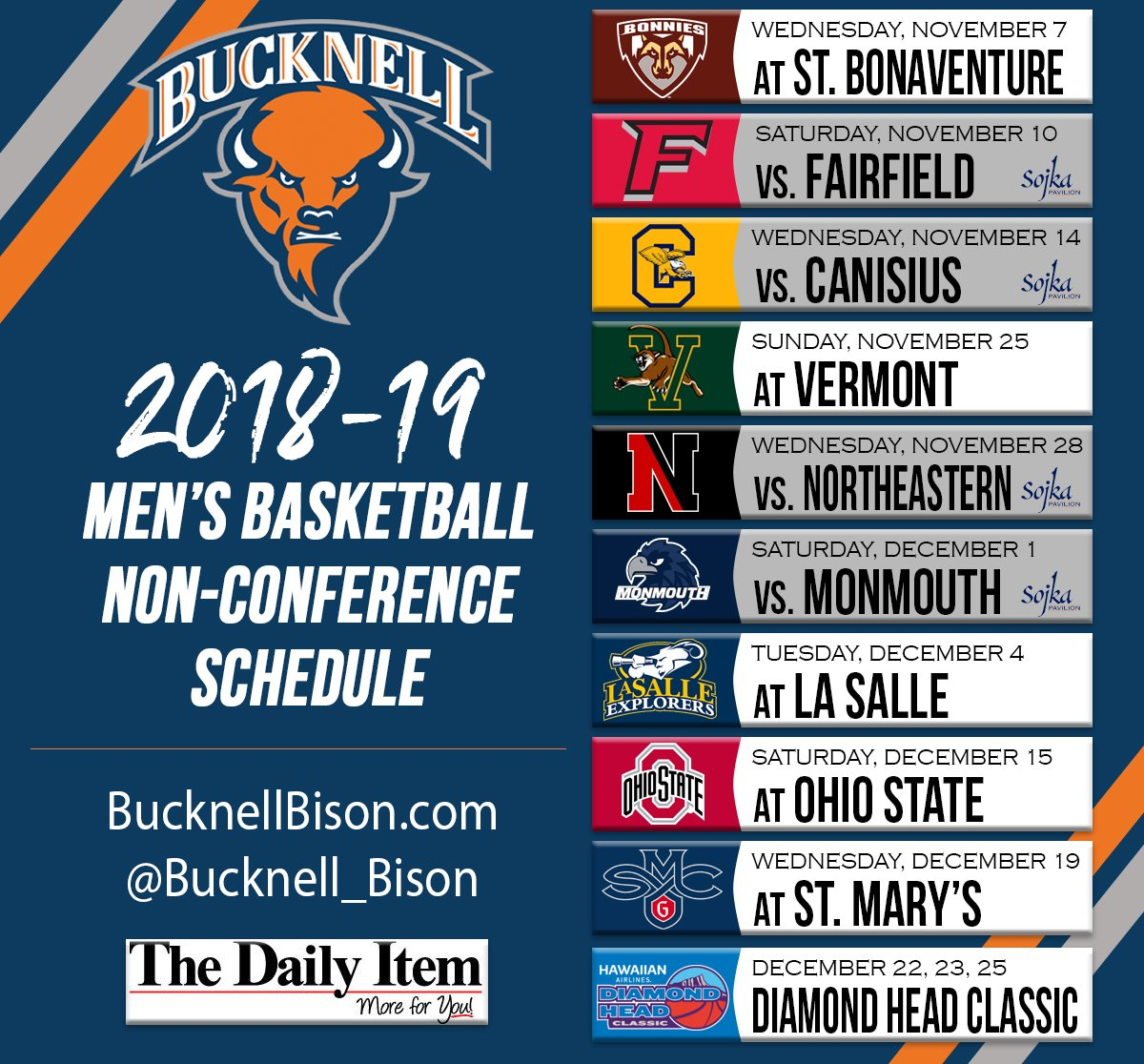 HERE IT IS! Announcing our 2018 non-conference schedule! #rayBucknell