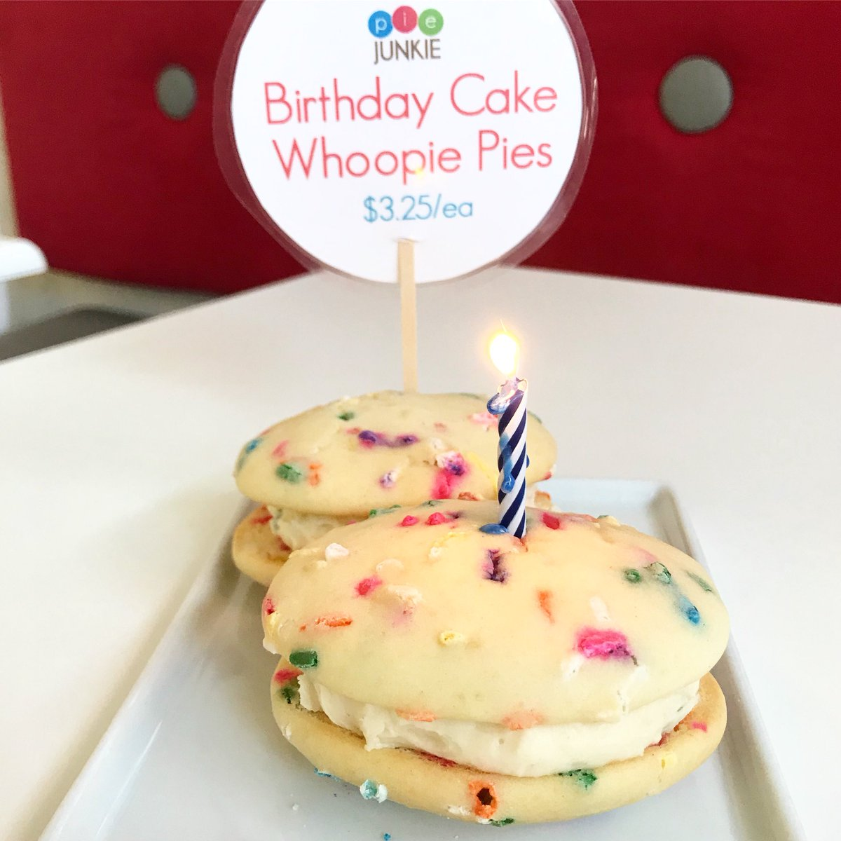 Pie Junkie On Twitter Birthday Cake Whoopie Pies Today
