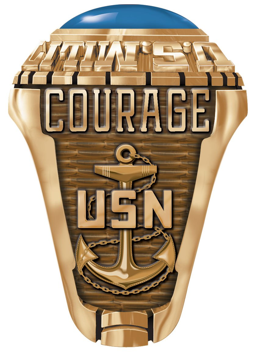 owned by us seabee a ring in veteran gold usa chief made navy the custom rings