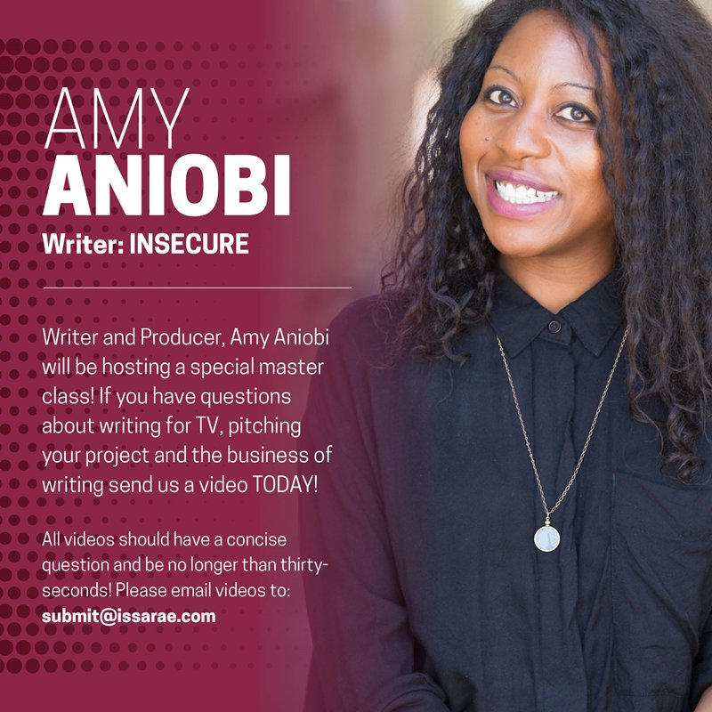 4844acbe3539 Have a question for her about writing for TV or pitching a project  Email  your video to us by Monday