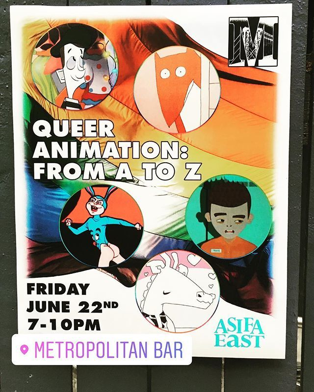 Here's a sneak peek at the upcoming #queer #animation show at #metropolitanbar !! Hosted by @tkgolightly #lgbt #queerfilm #gayanime #gayanimation #instagay #gaysnap #gaysofinstagram #gay #pridemonth #gayboy #williamsburg #brooklyn #brooklyngay #cartoon #animated #animator #a…