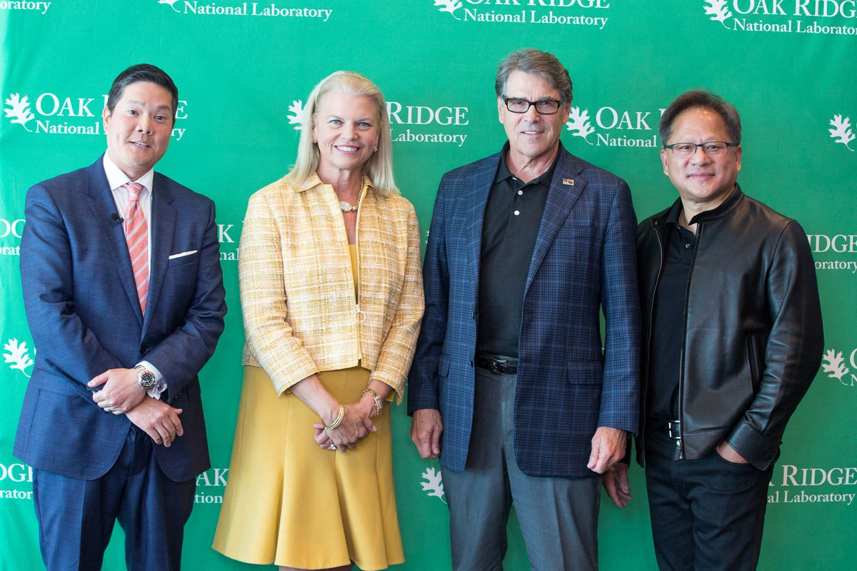 Tune in now to see @CNBCs segment on @ORNLs Summit #supercomputer, including a joint interview with NVIDIAs Jensen Huang, @SecretaryPerry and @IBMs Ginni Rometty. cnbc.com/live-tv/