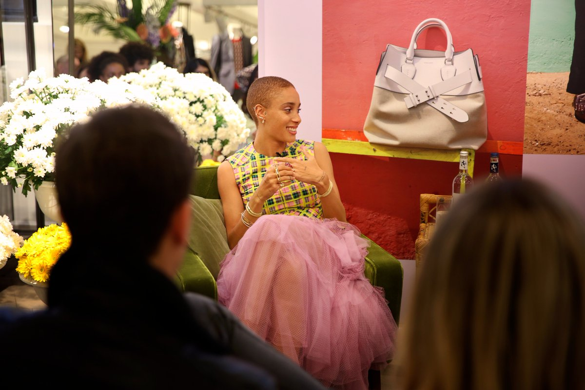 When I see the images Im like, I did that. Im not just in the campaign, I made it. - Adwoa Aboah on art directing for @Burberry, in conversation at 121 Regent Street, London #JuergenXAdwoa