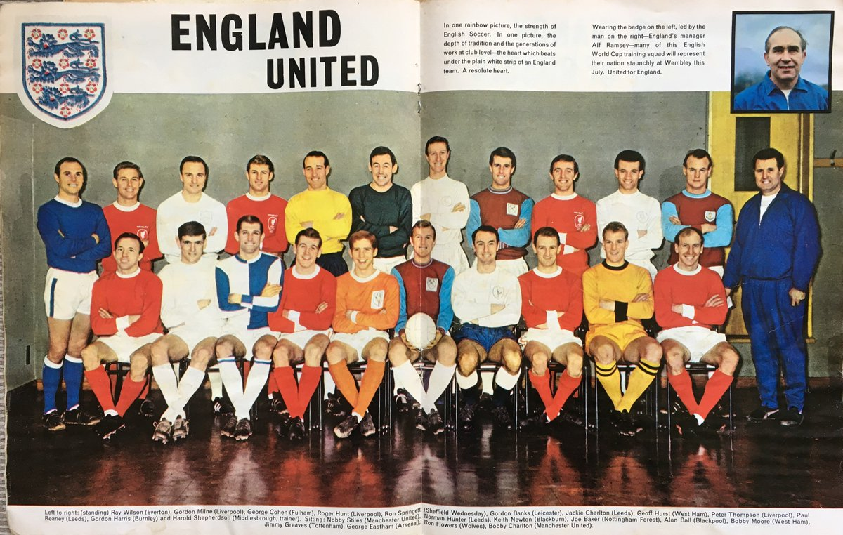Pete Molyneux On Twitter Englands 1966 World Cup Squad In Their Club Colours YesterdaysStars OldFootball11 BBCSport BBCRMunited AndyMitten