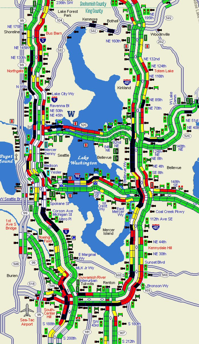 King 5 Traffic Map.Wsdot Traffic On Twitter Anyone Heading South In King County Is