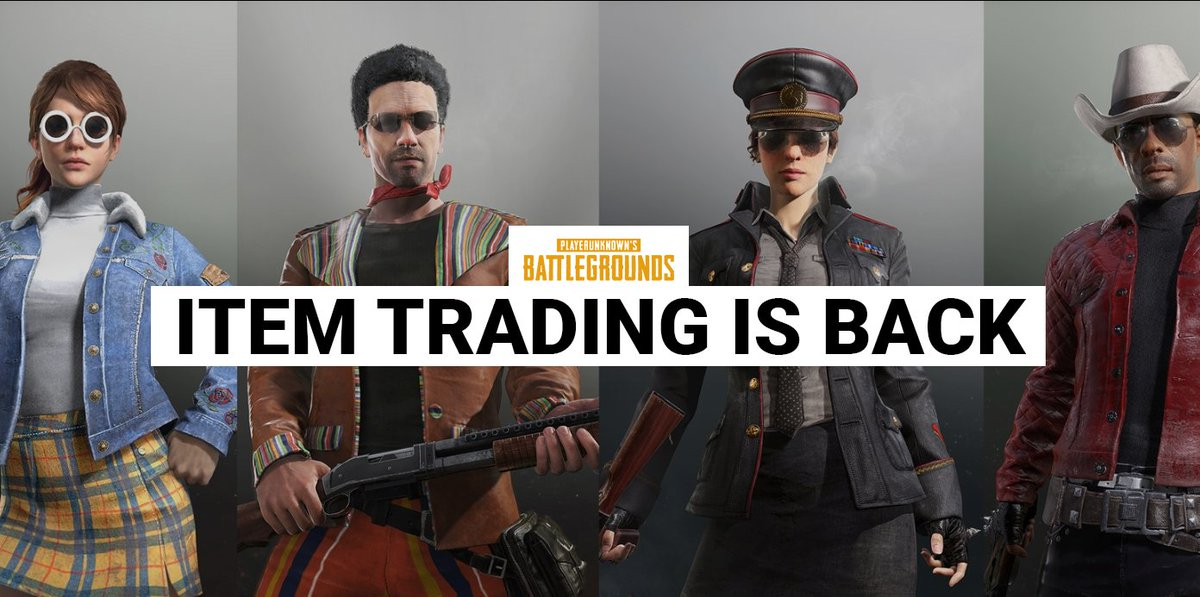 Opskinscom On Twitter Update Pubg Item Trading Is
