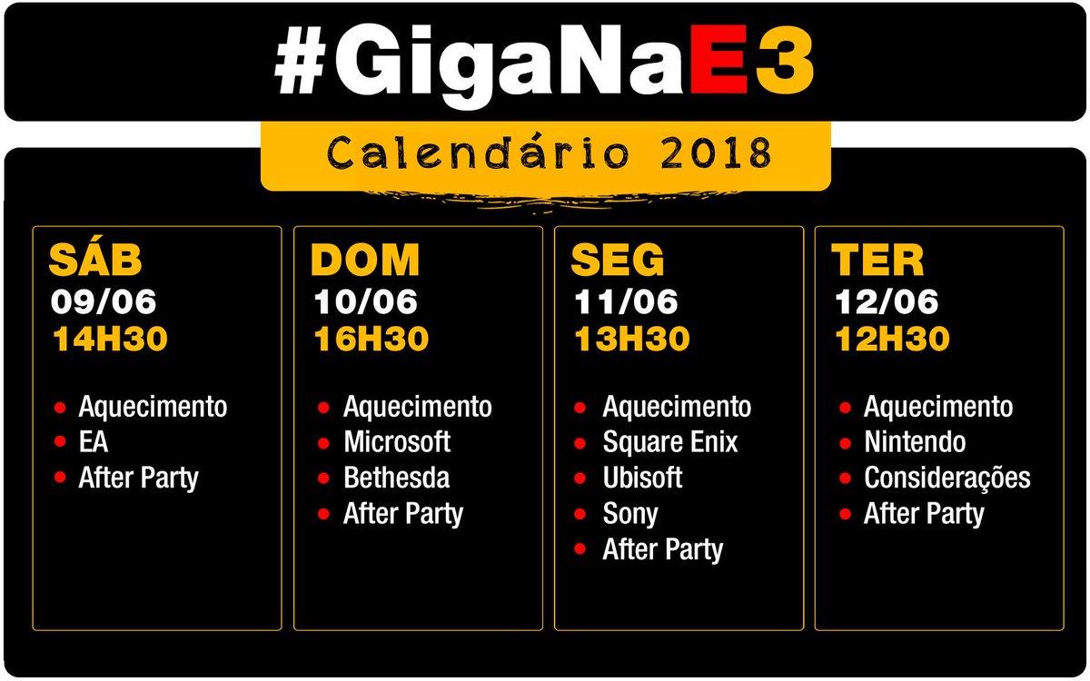 E3 Calendario.Zima Blue On Twitter E3 2018 Agenda Atualizada 3
