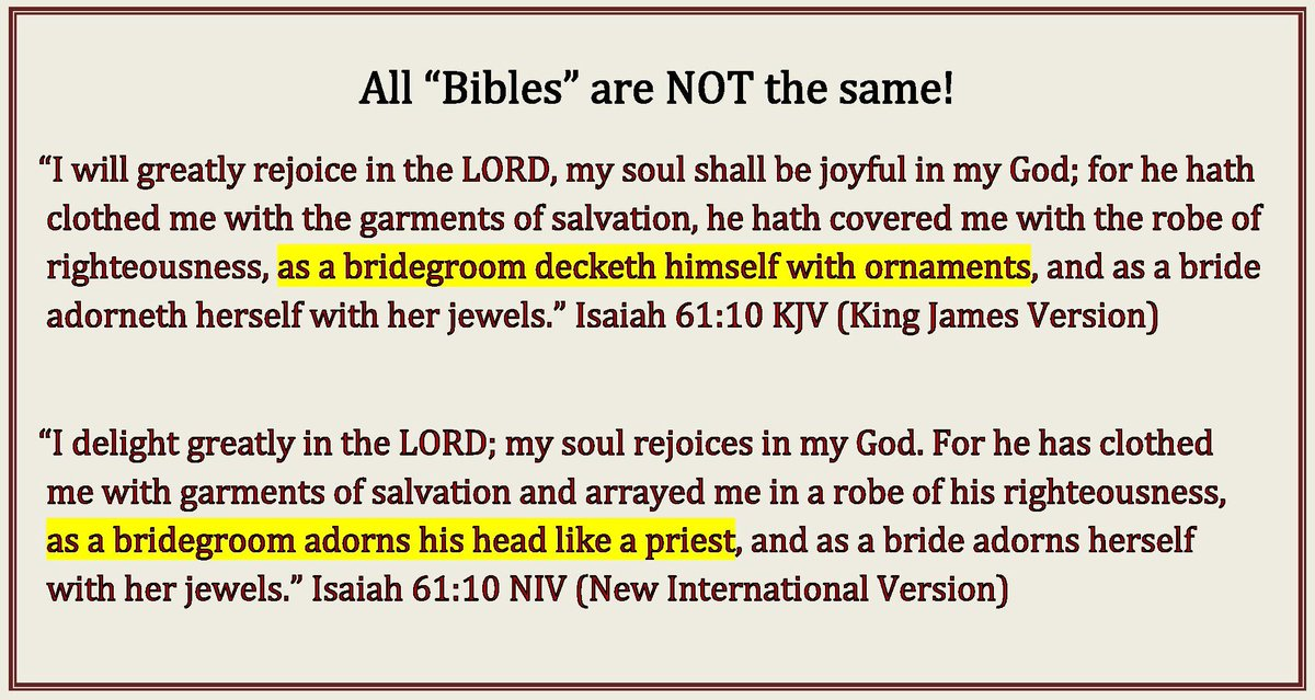 Pastor At Churchofgodonline Org On Twitter Fyi I Always Check The Accuracy Of Bible Verses Before Retweeting Them If They Re Not From The Authorized Kings James Bible Kjv I Don T Rt Them Kjv Retweets