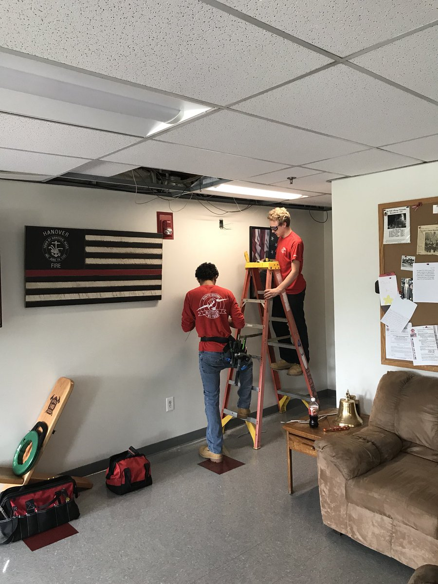 Hanover Fire Dept On Twitter Thank You To The South Shore Home Electrical Installation Upgrade Importance Design School Program Students Faculty Who Spent Last Two Days At Headquarters Working A Few Important Technology Projects