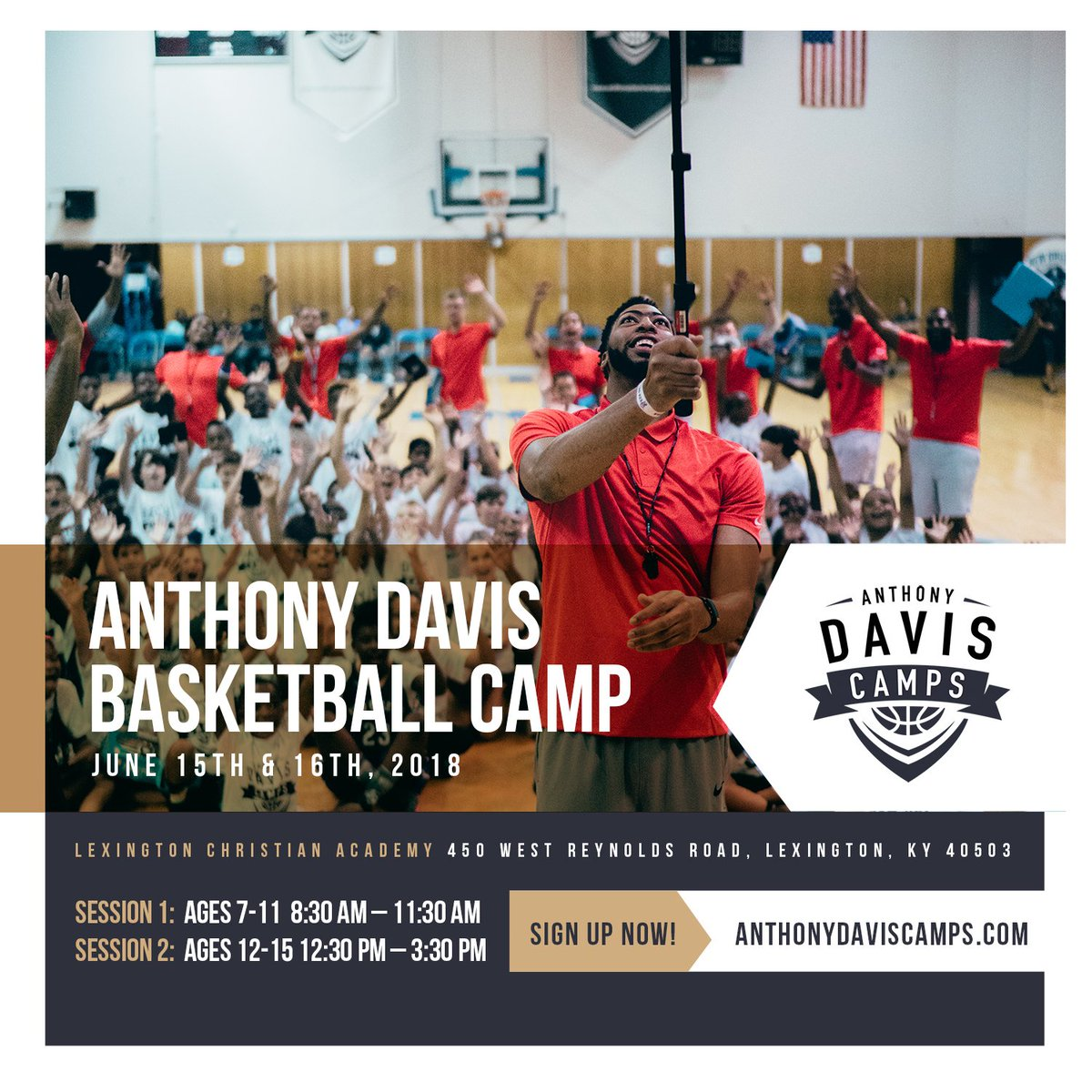 Lexington! Were one week away from camp. Have you signed up yet? anthonydaviscamps.com