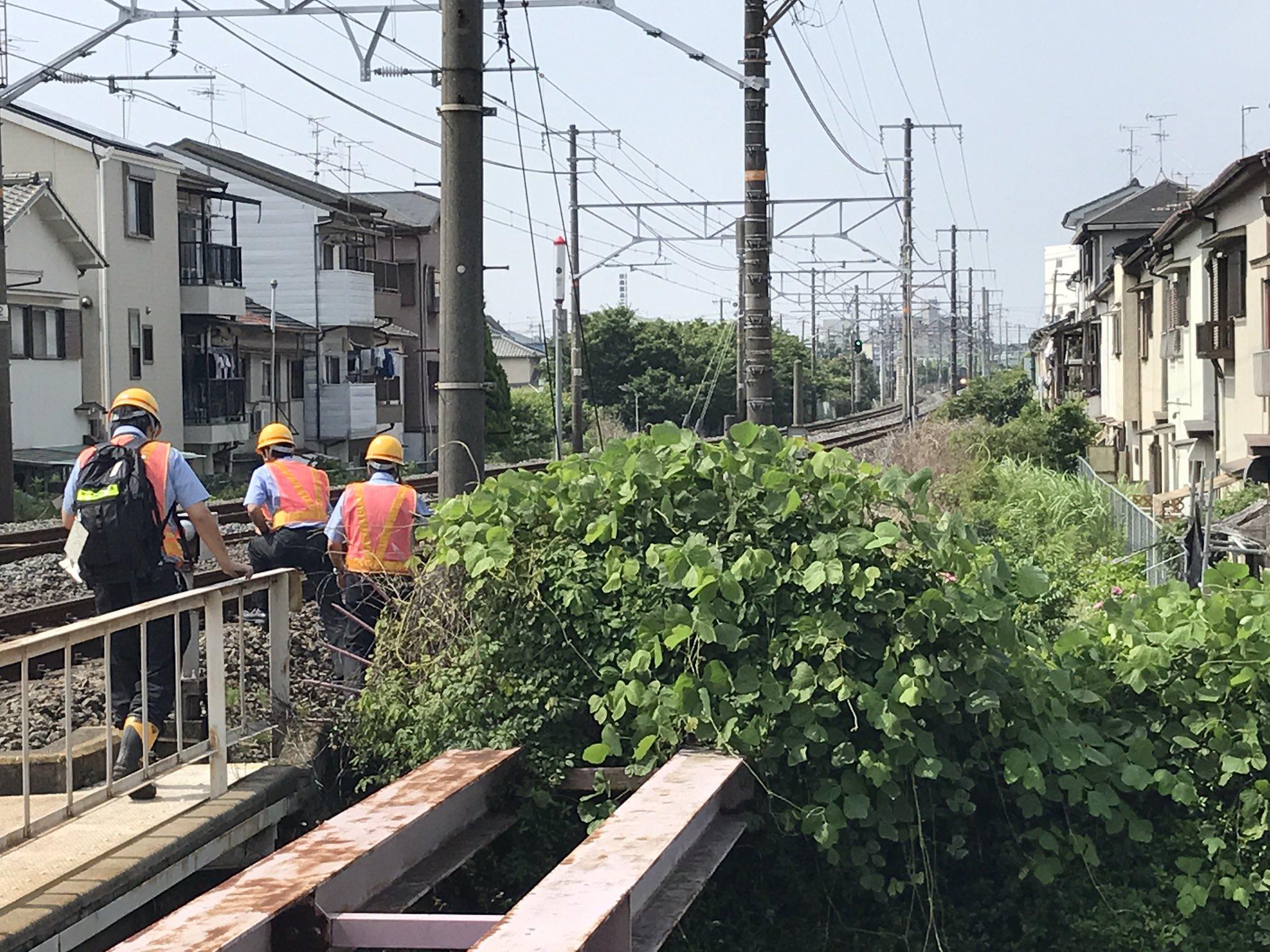 学研都市線の野崎~住道間の踏切で事故の現場画像