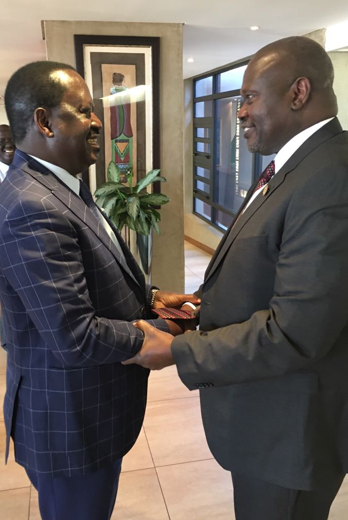 I have had a fruitful discussion with Hon Raila Odinga in the quest for peace in our country. IO and myself have been advocating for this peaceful resolution of the conflict. The status quo shouldn't stand. Something will change.