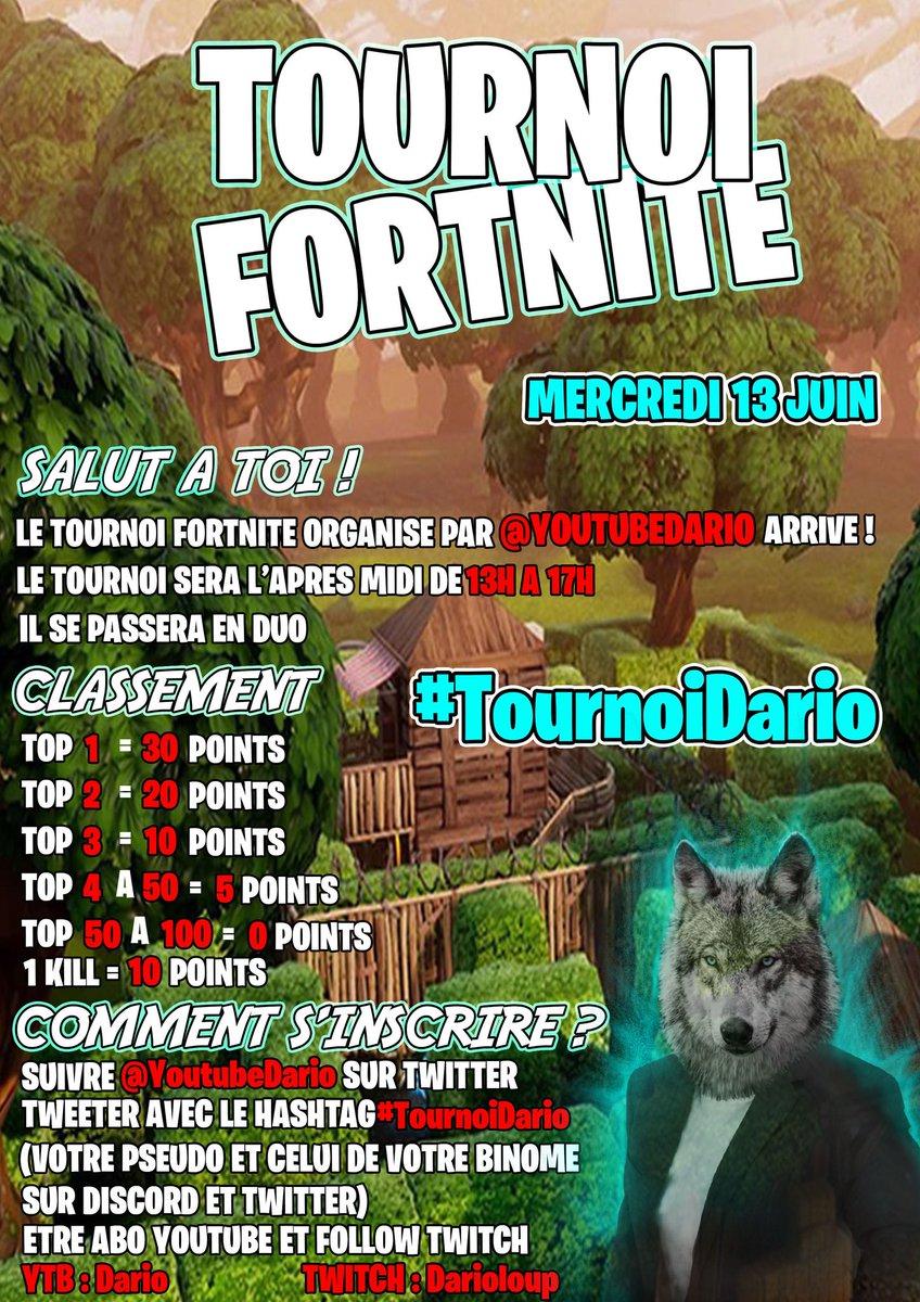 Tournoi fortnite discord