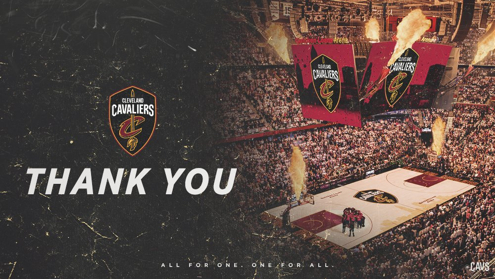 To the best fans in The Land…  Thank you for doing #WhateverItTakes. ❤�� https://t.co/mS1vKzJCBg