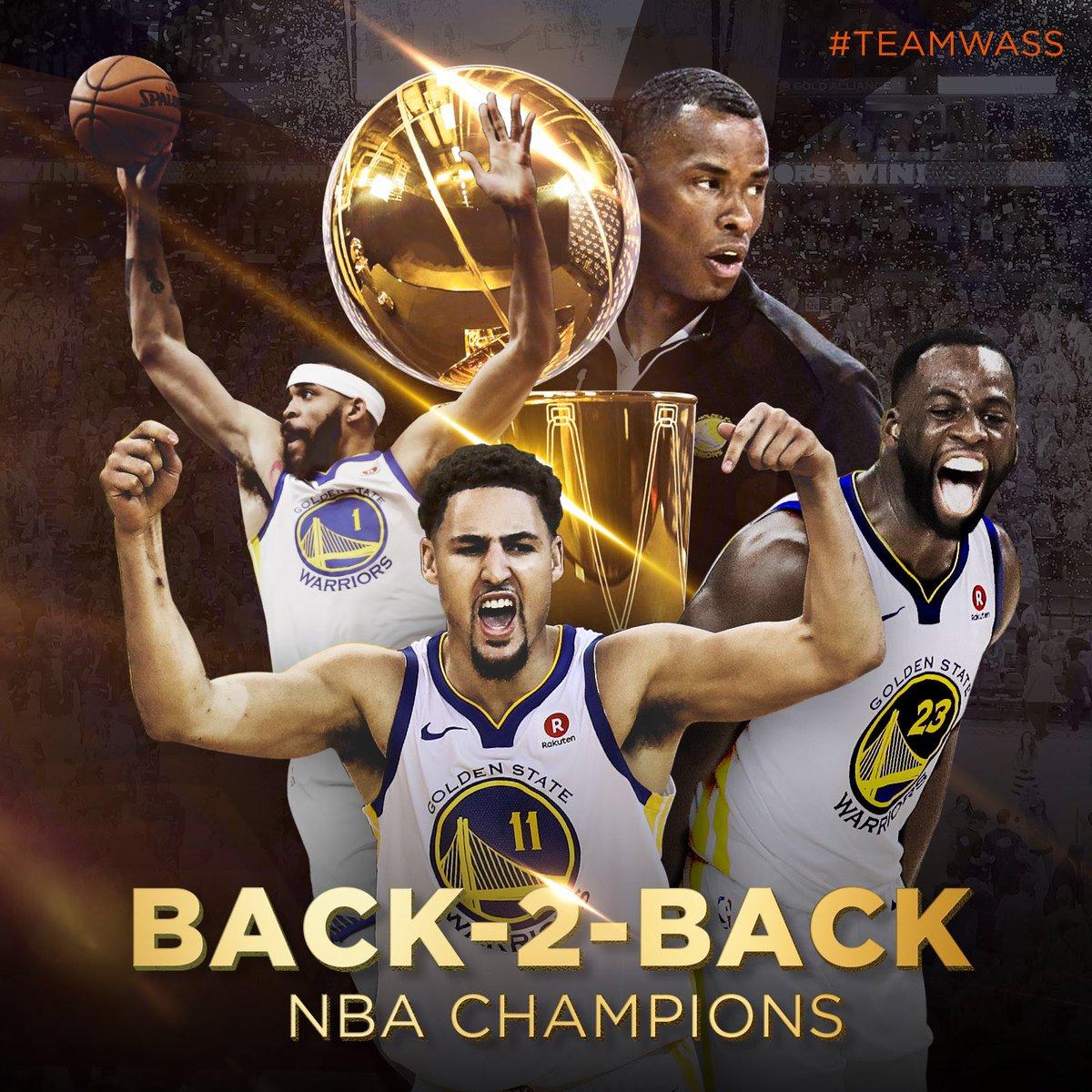 Congrats on another 🏆 Jarron, JaVale, Draymond & Klay #TeamWass