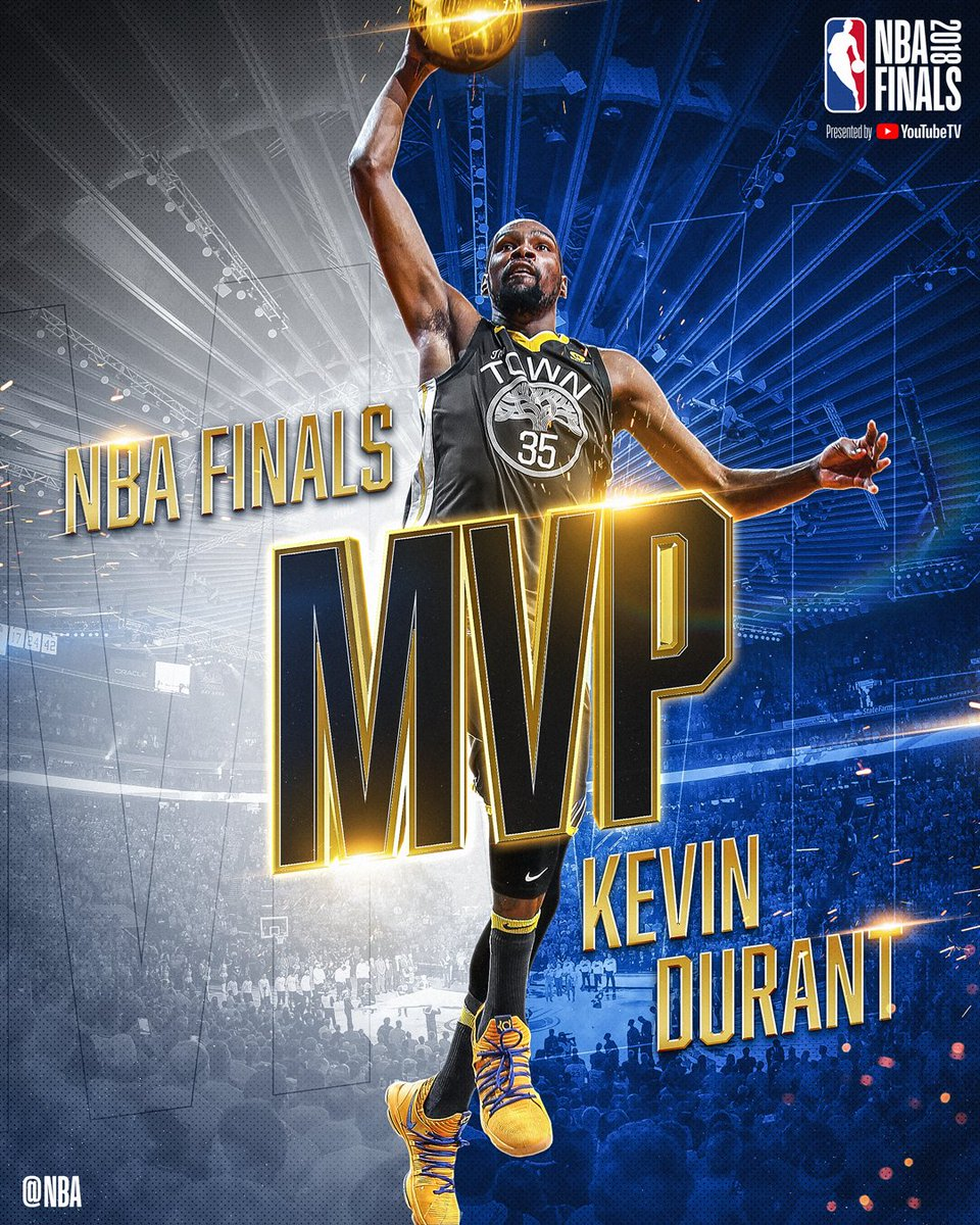 The 2018 #NBAFinals MVP... Kevin Durant!  #DubNation #ThisIsWhyWePlay