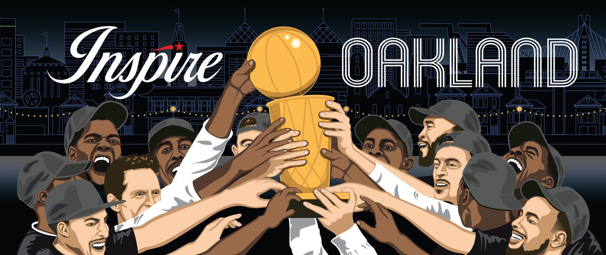 BACK 2 BACK CHAMPIONS. Congrats to our friends @warriors + @GSWfoundation - champs ON and OFF the court! #InspireOakland #DubNation  #WarriorsGround #GoDubs #StrengthInNumbers #Champs2018 | Original design by #BRIDGEGOOD Creative  http://www. bridgegood.com/oree  &nbsp;  <br>http://pic.twitter.com/iJTN4FrwSI