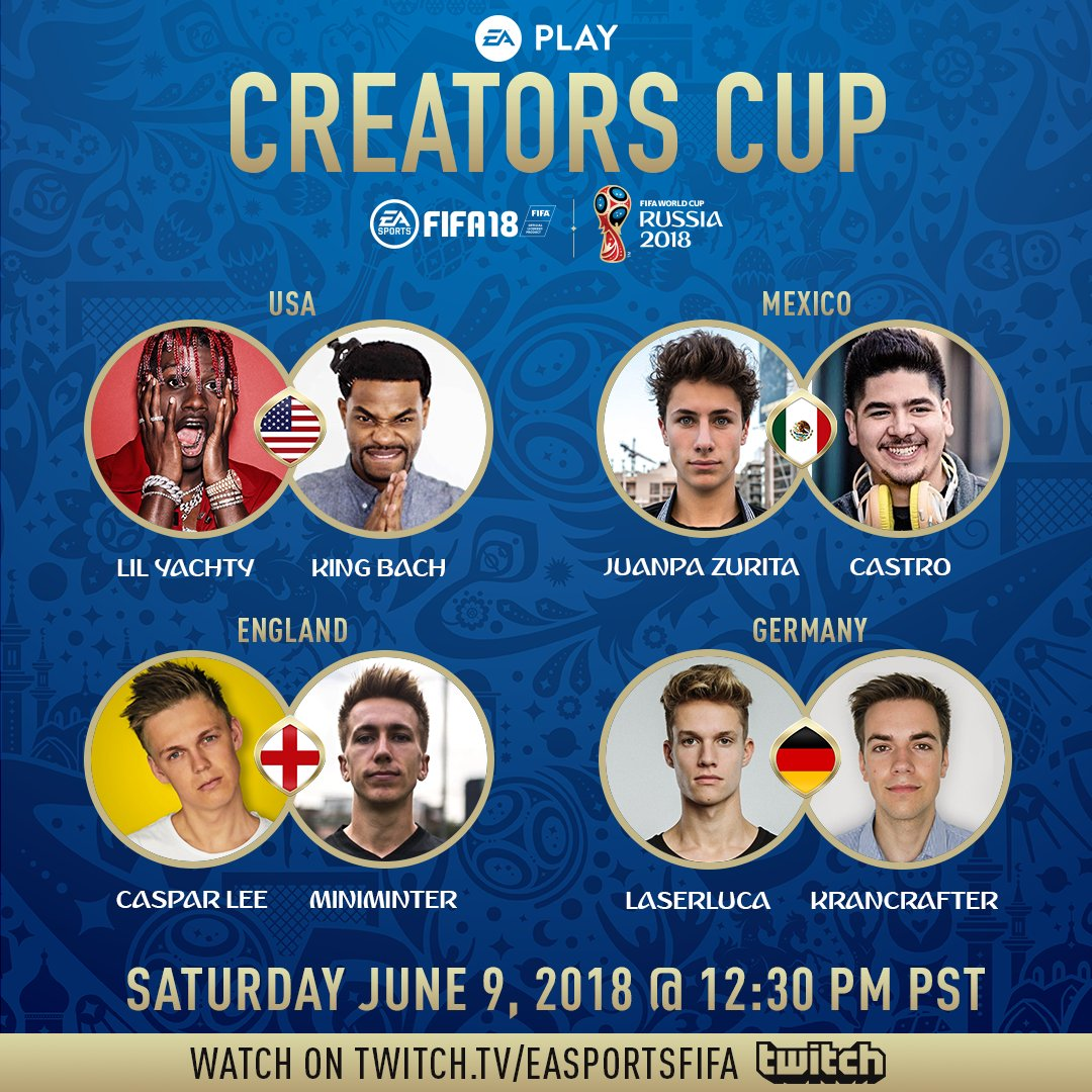 Ready for the #EAPLAY Creators Cup? ゚ヌᄎ゚ヌᄌ ゚ヌᄇ゚ヌᄑ ゚ヌᄅ゚ヌᆰ ゚マᄡᅠチᄃᅠチᄁᅠチᆬᅠチᆴᅠチᄃᅠチ  This is where you can watch it ゚ムノ https://t.co/J3JeIgdOb4 https://t.co/SYte4YEOe7