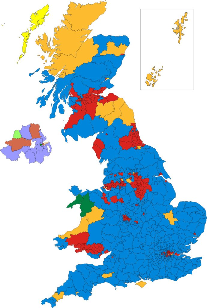 election maps uk on twitter note as spotted by stephenrw01 teignbridge devon in 1997 should be blue not yellow it went yellow in 2001
