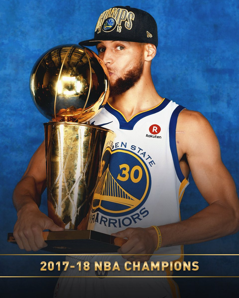 3x champ with the @warriors... @StephenCurry30! 🏆🏆🏆 #ThisIsWhyWePlay
