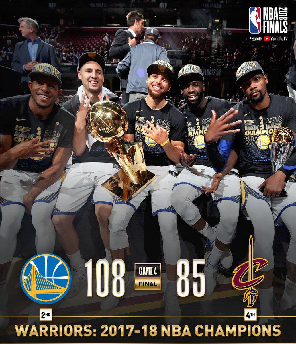 Curry y Durant barrieron a los Cavaliers y los Warriors son campeones de la NBA