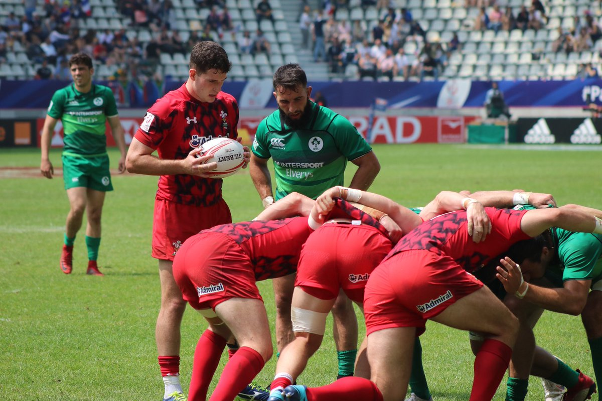 Irish Rugby On Twitter All Square In Two Paris As A Late Intercept From Wales Leaves It At 19 Ireland Men S 7s Face Australia 4 46pm