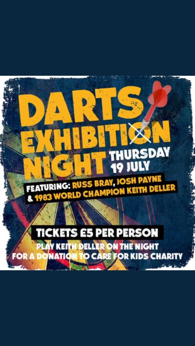 Come along to @WalkaboutLeices for a fun night of darts with @Joshpayne180 @Russ180 and myself . Josh just won on Pdc tour and this lad can play come along for a game. @sportspsycoach