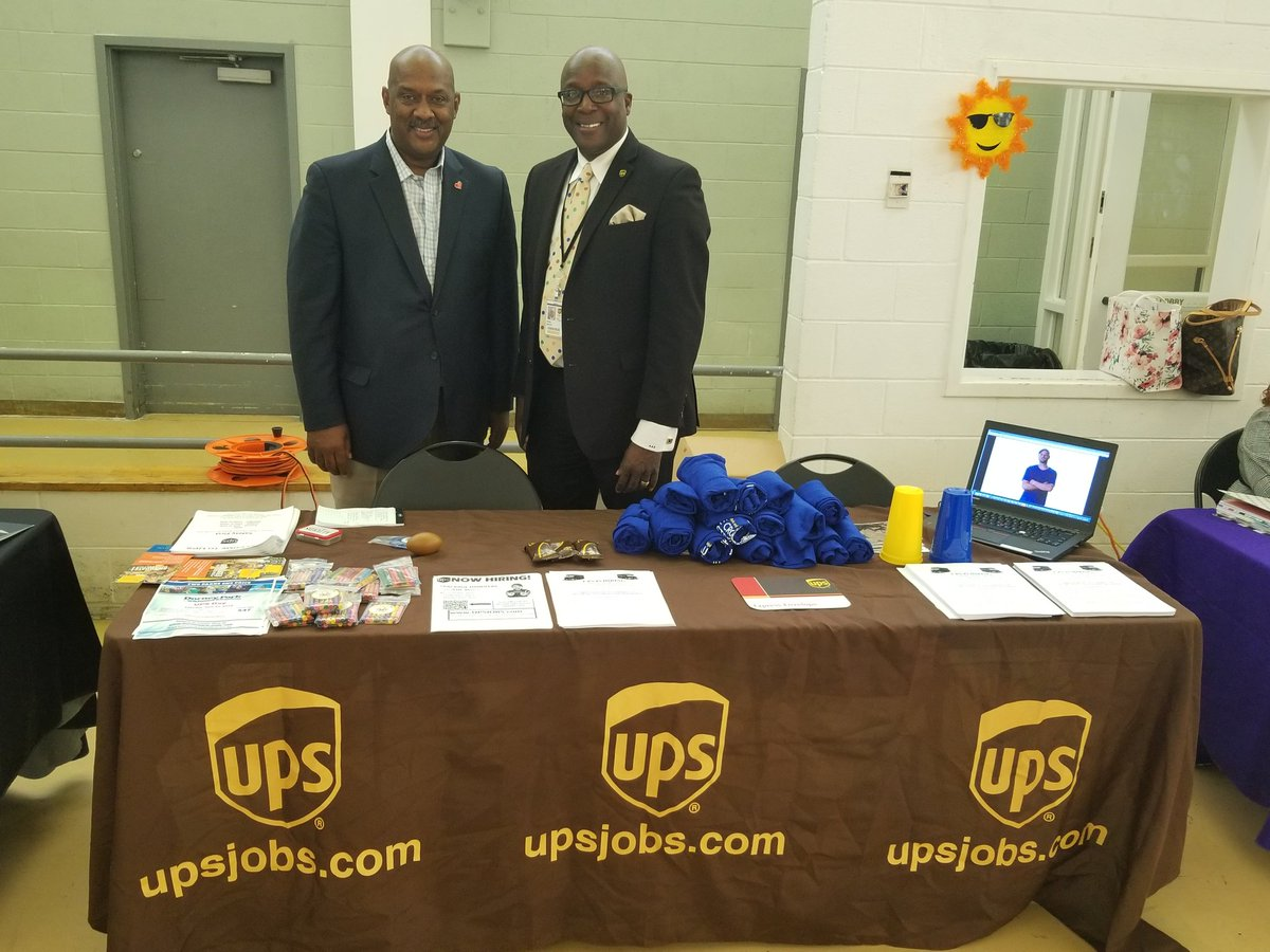 @ the Deight Evans Services Fair with Congressma Dwight Evans discussing UPS and Jobs.