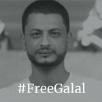 Image for the Tweet beginning: Egyptian poet Galal El-Behairy shares