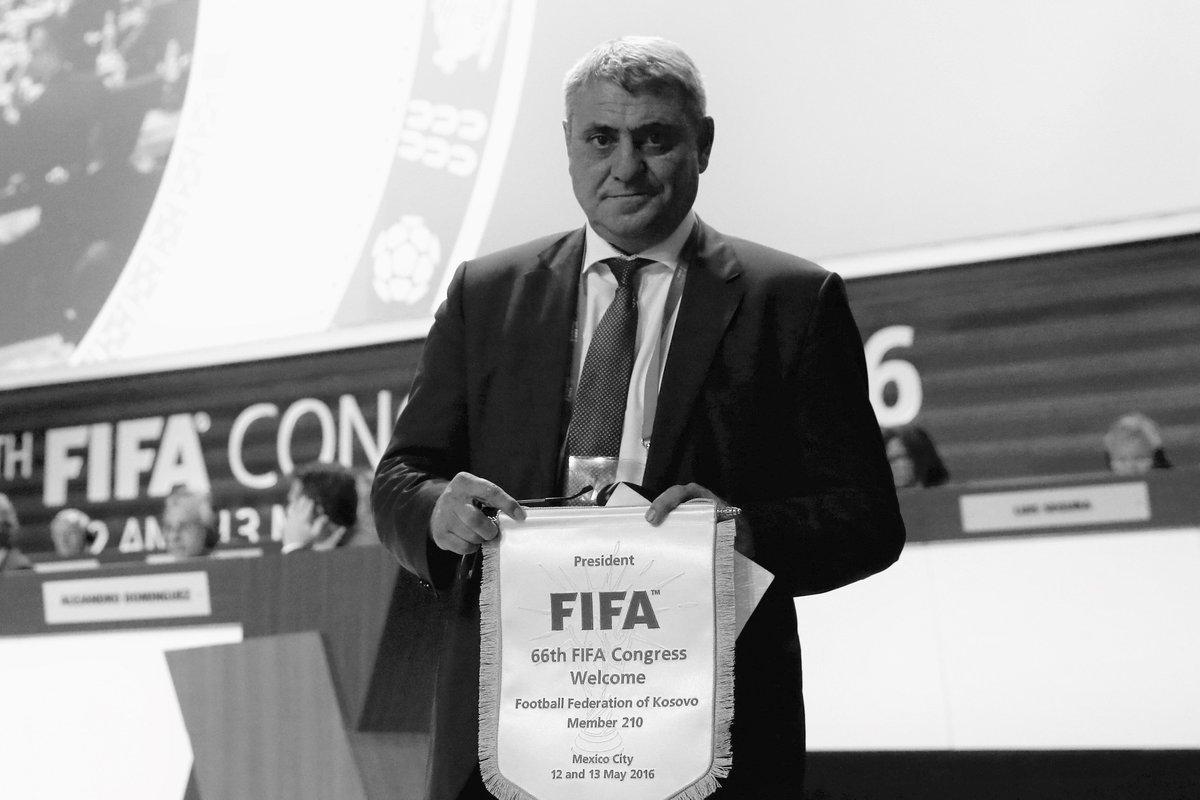 FFK President Fadil Vokrri, who passed away 9 June 2018