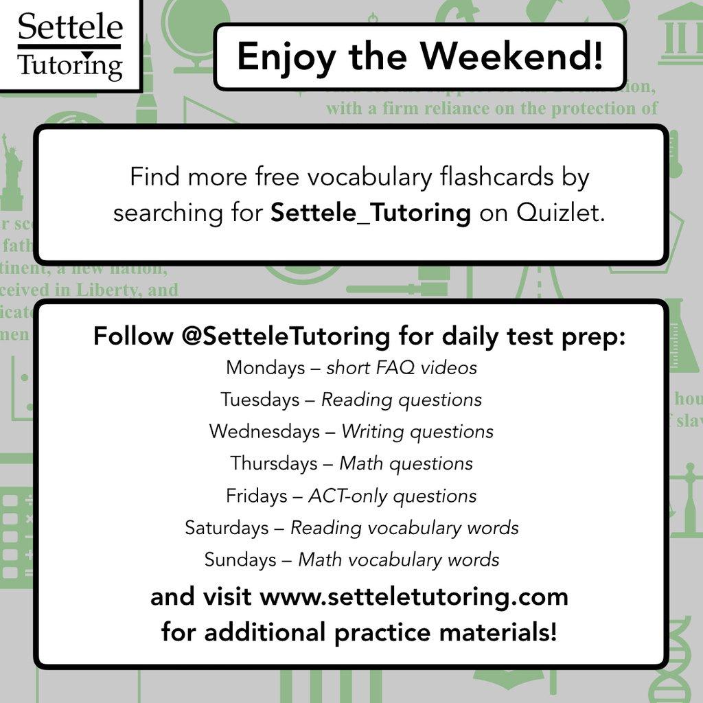 Settele Tutoring on Twitter:
