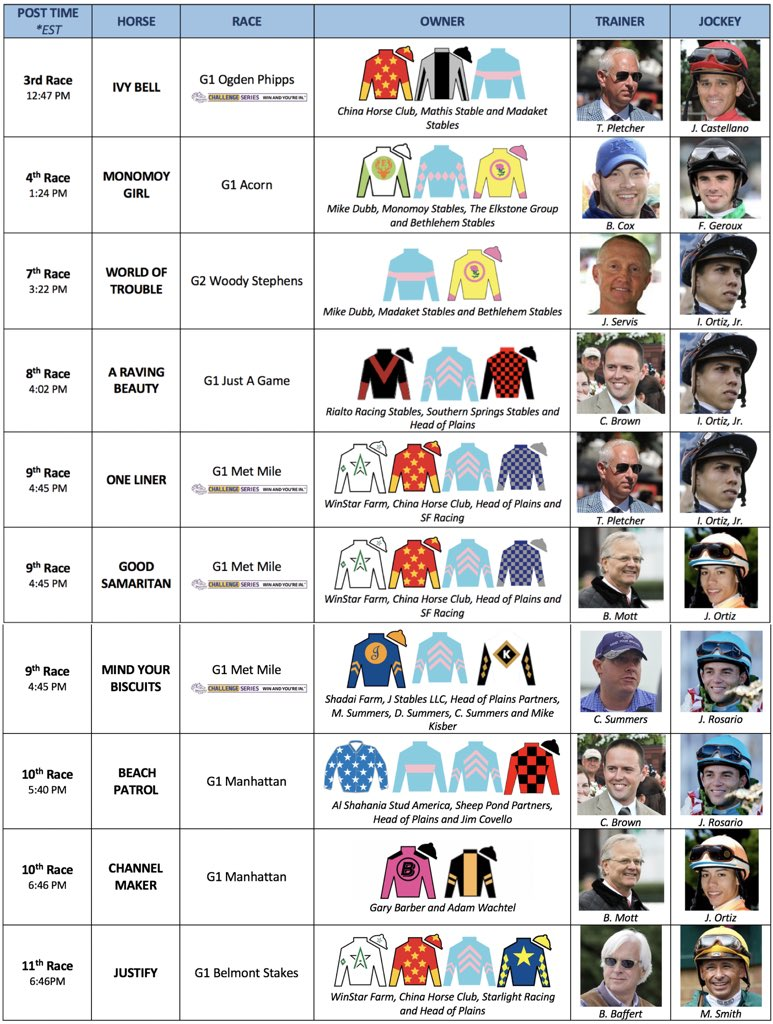 test Twitter Media - HUGE day kicked off by two G1 chances in 3rd and 4th race. Probably the biggest line-up our team has ever had for a single day. Thank you to all our clients and good luck to all involved! https://t.co/YCjOEqvI5r
