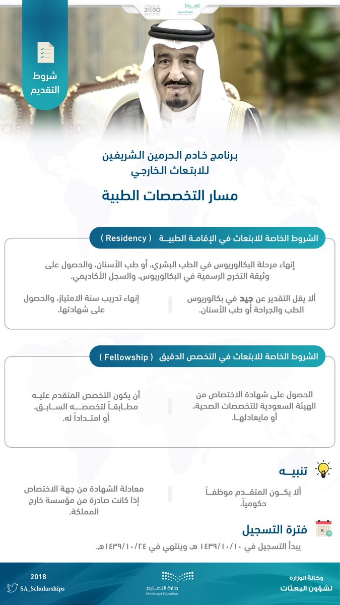 التسجيل برنامج خادم الحرمين الشريفين