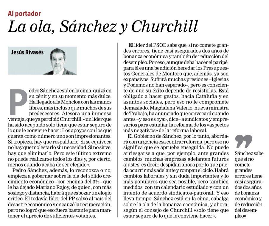 La ola, Sánchez y Churchill. Muy de acuerdo con @jesus_rivases.