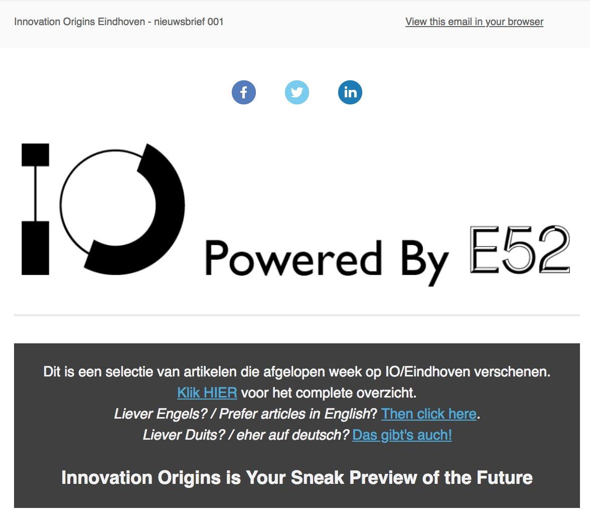 Innovation Origins Nl On Twitter Na 168 Nieuwsbrieven Van