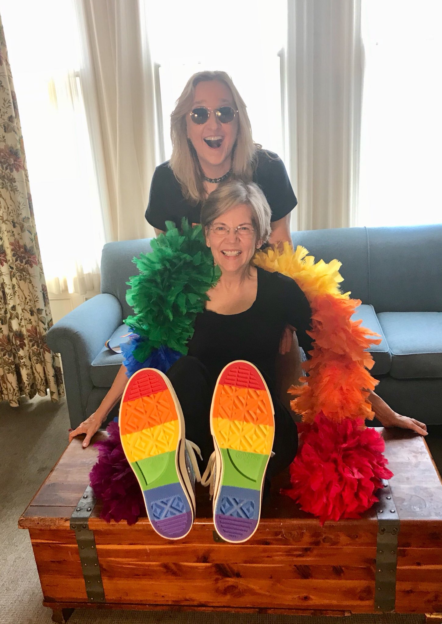 Get ready, #BostonPride – @metheridge and I are ready to dance! #RainbowResistance #Pride2018 https://t.co/qnucmd11qf