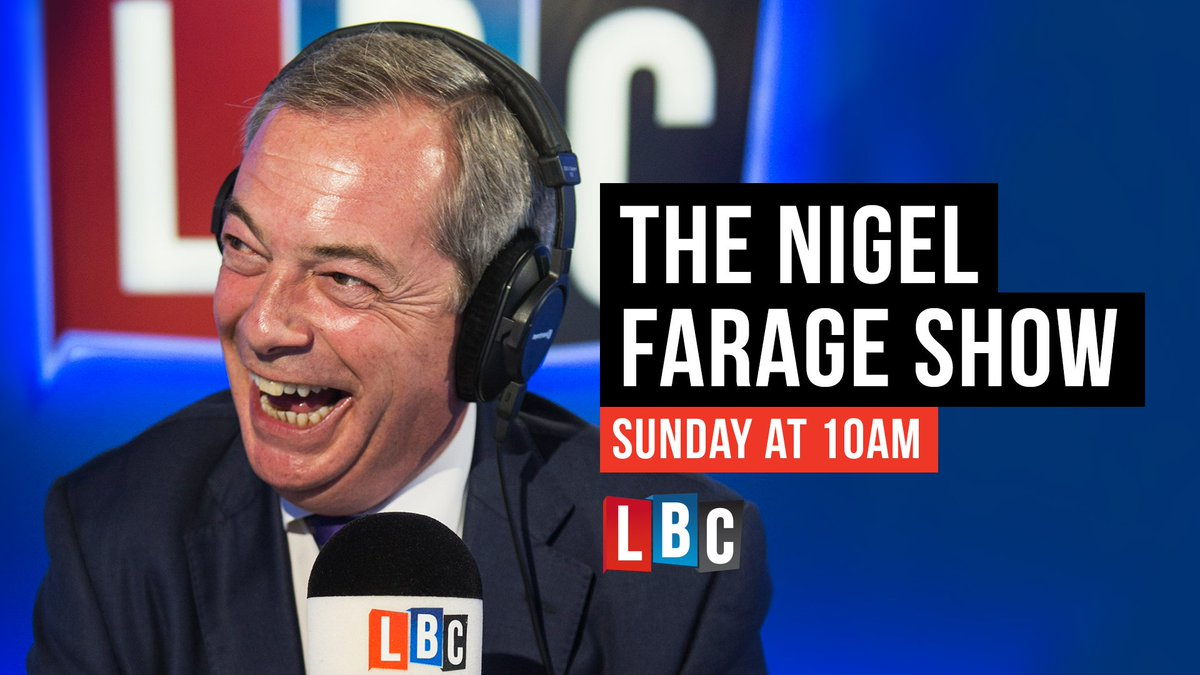 He's back... The @Nigel_Farage Show returns tomorrow from 10am: https://t.co/rleDA7jPa9 #FarageOnLBC