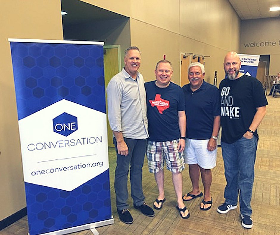 Huge thank you to Joel Southerland from North American Mission Board (NAMB) and Jim Law from First Baptist Woodstock for stopping by to be a part of our efforts for #Crossover2018! #CanWeTalk? #Gospelmovement