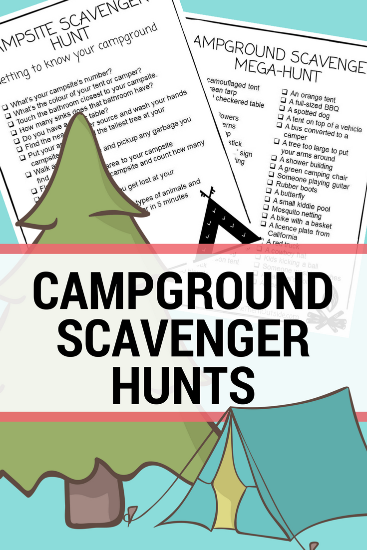 image relating to Camping Scavenger Hunt Printable titled Jenn upon Twitter: \