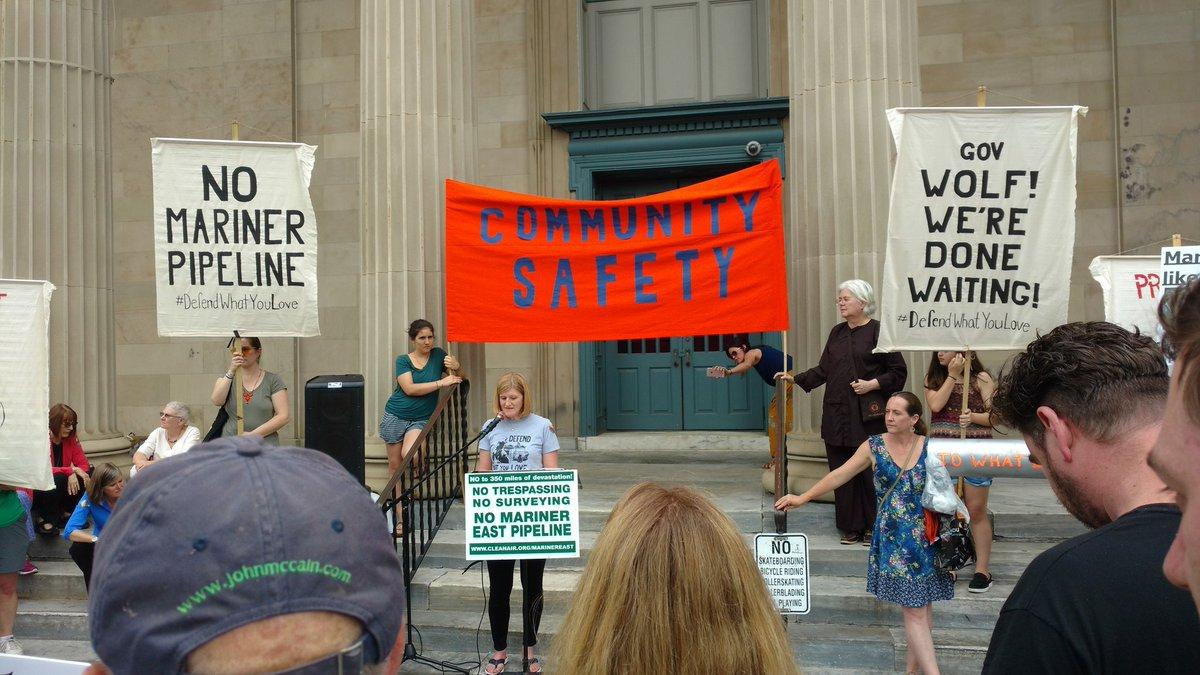 Residents of PA rally to shut down Sunoco's dangerous Mariner 2 pipeline. #StopMariner2