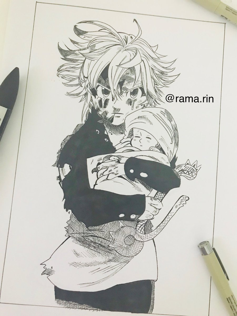 Rama On Twitter My Drawing Meliodas What Do You Think