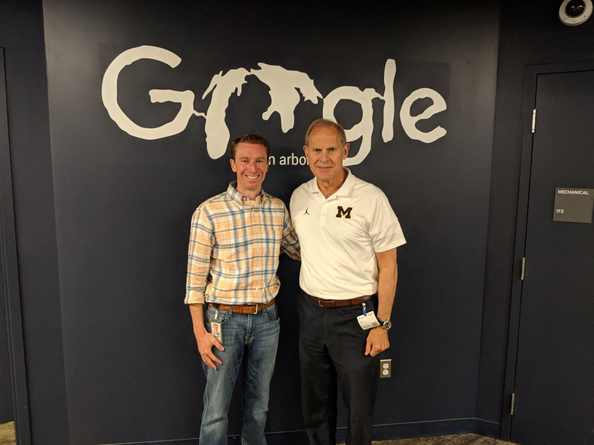 It was terrific to spend a few hours Friday with @charlesscrace and some of the GOOGLE Ann Arbor staff. Love the environment and energy in that fantastic facility! ANOTHER great reason to love Ann Arbor and the great state of Michigan ! #GoBlue